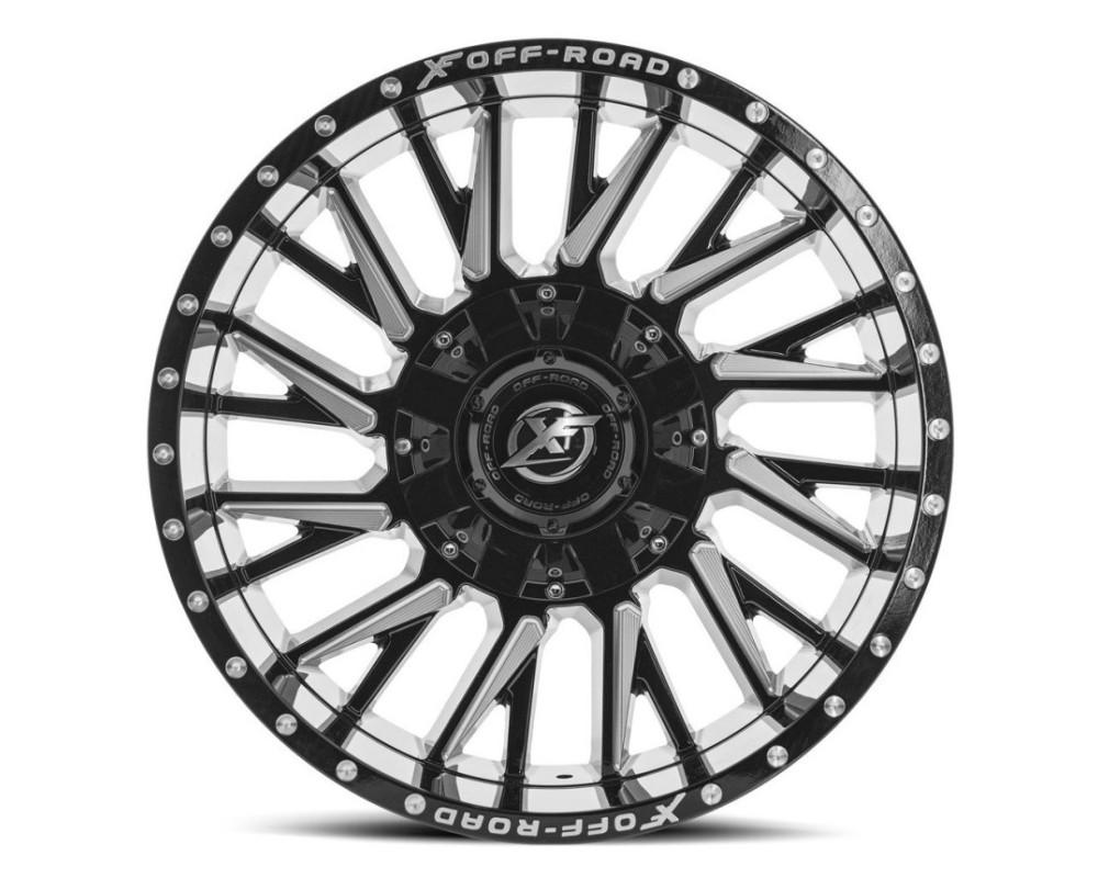 XF Off-Road XF-226 Wheel 20x10 8x165.1|8x180 -12mm Gloss Black Milled