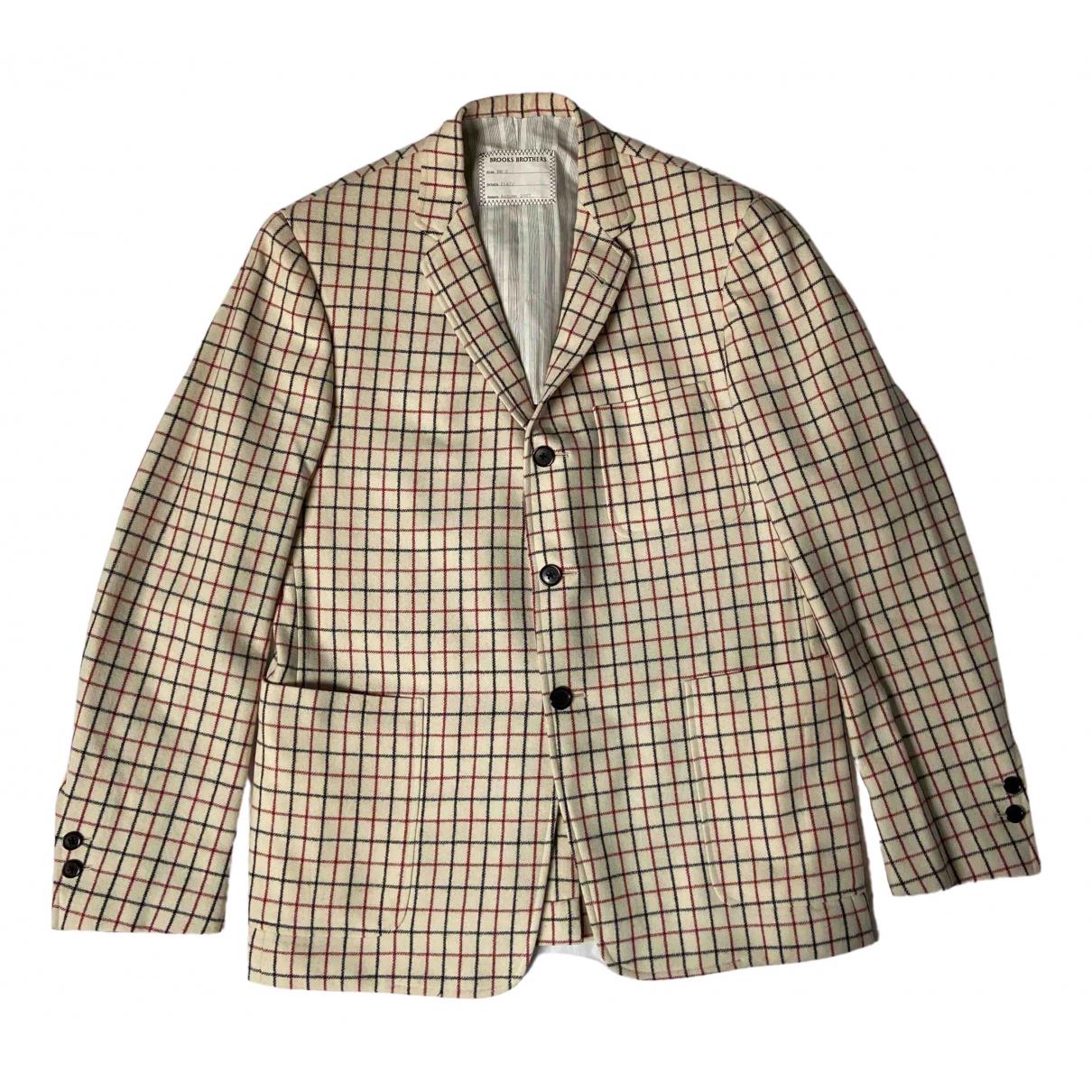 Brooks Brothers - Vestes.Blousons   pour homme en laine - ecru