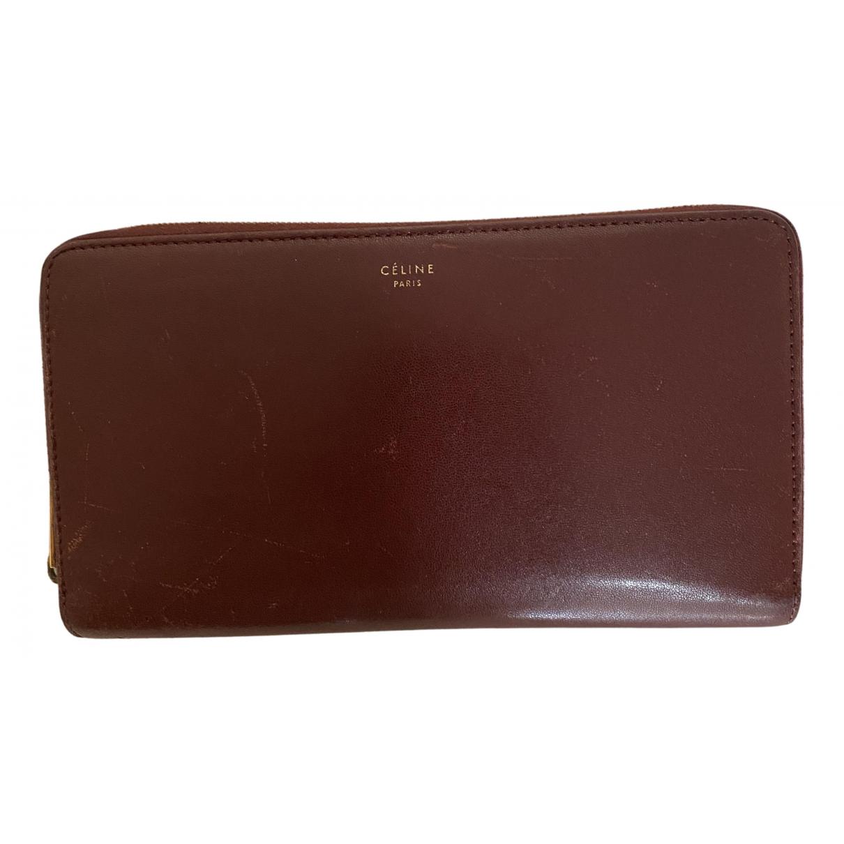 Celine N Burgundy Leather wallet for Women N