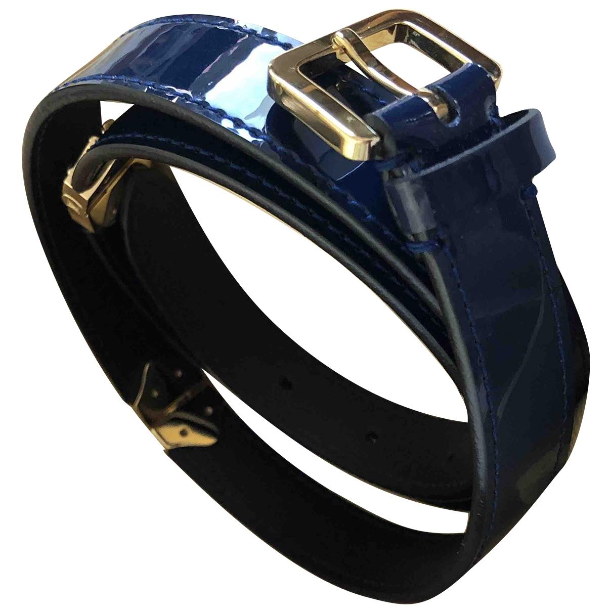 Louis Vuitton - Ceinture   pour femme en cuir verni - bleu