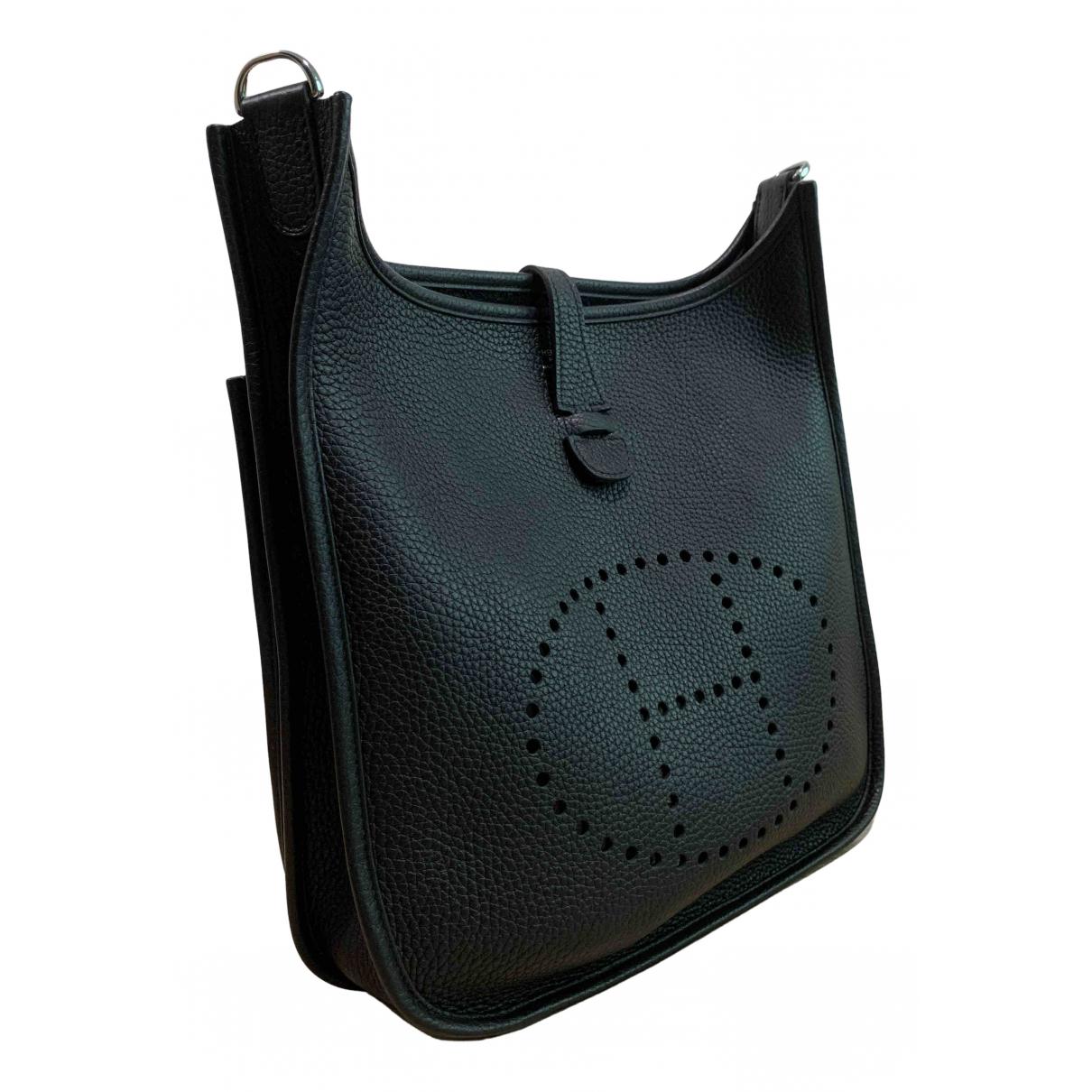 Hermès Evelyne Black Leather handbag for Women N