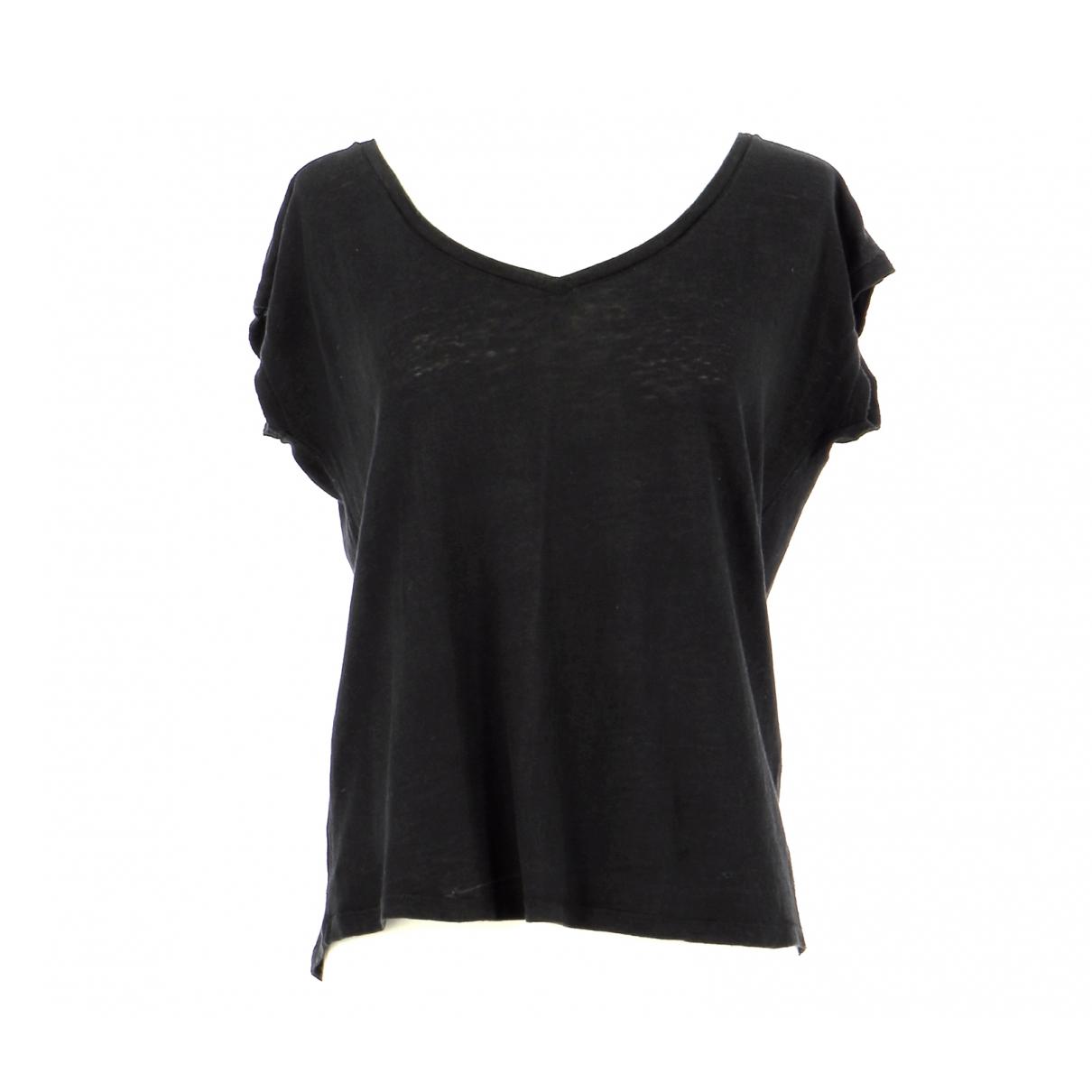 Comptoir Des Cotonniers N Black Linen  top for Women 36 FR