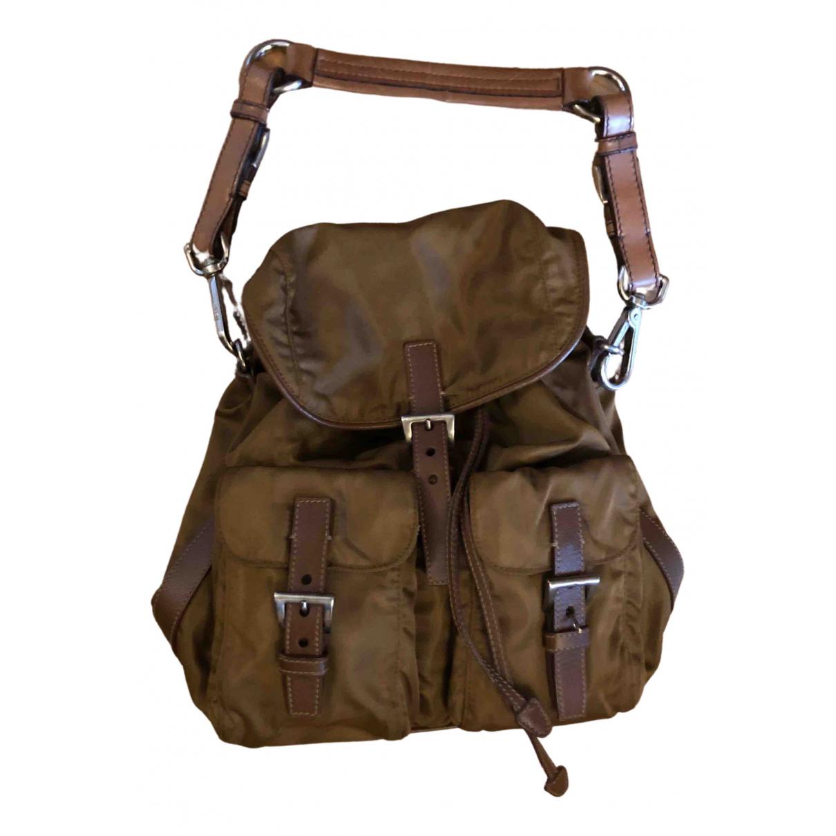 Prada N Khaki Cloth handbag for Women N
