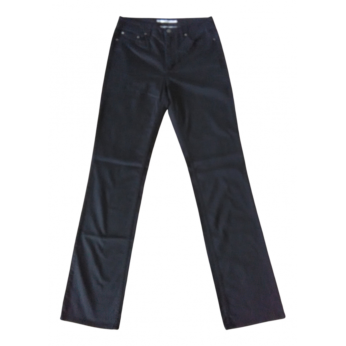 Tommy Hilfiger N Black Cotton Trousers for Women 6 US