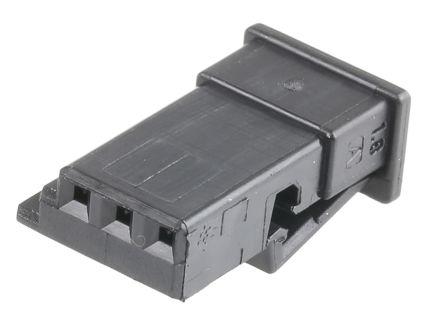 TE Connectivity , Micro Quadlock System Automotive Connector Socket 1 Row 3 Way, Black
