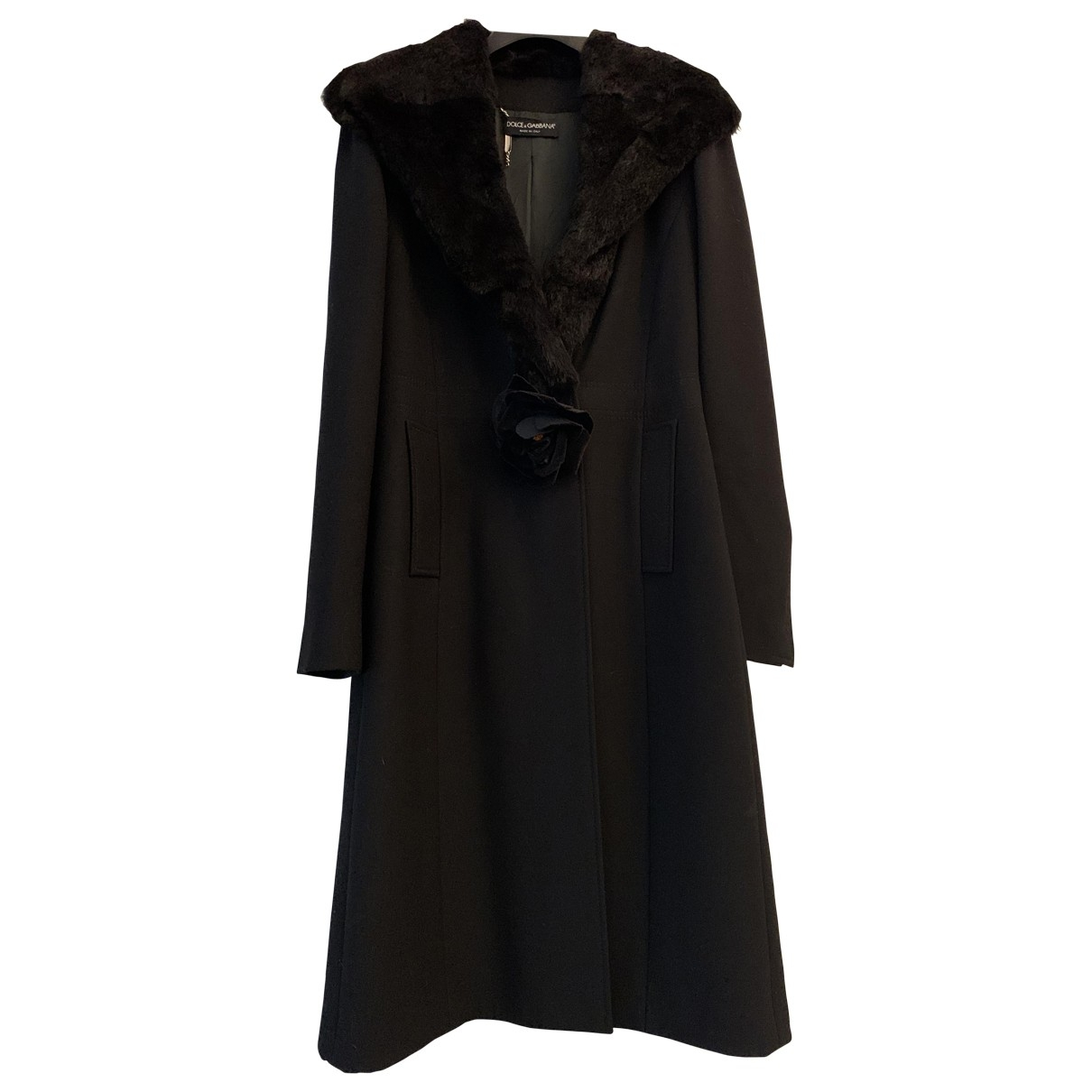 Dolce & Gabbana \N Maentel in  Schwarz Wolle