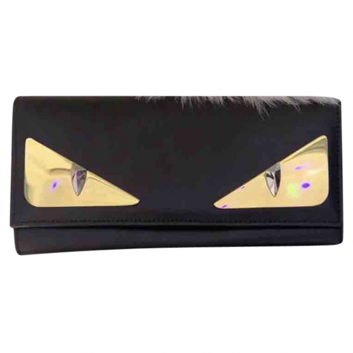 Fendi \N Black Leather wallet for Women \N
