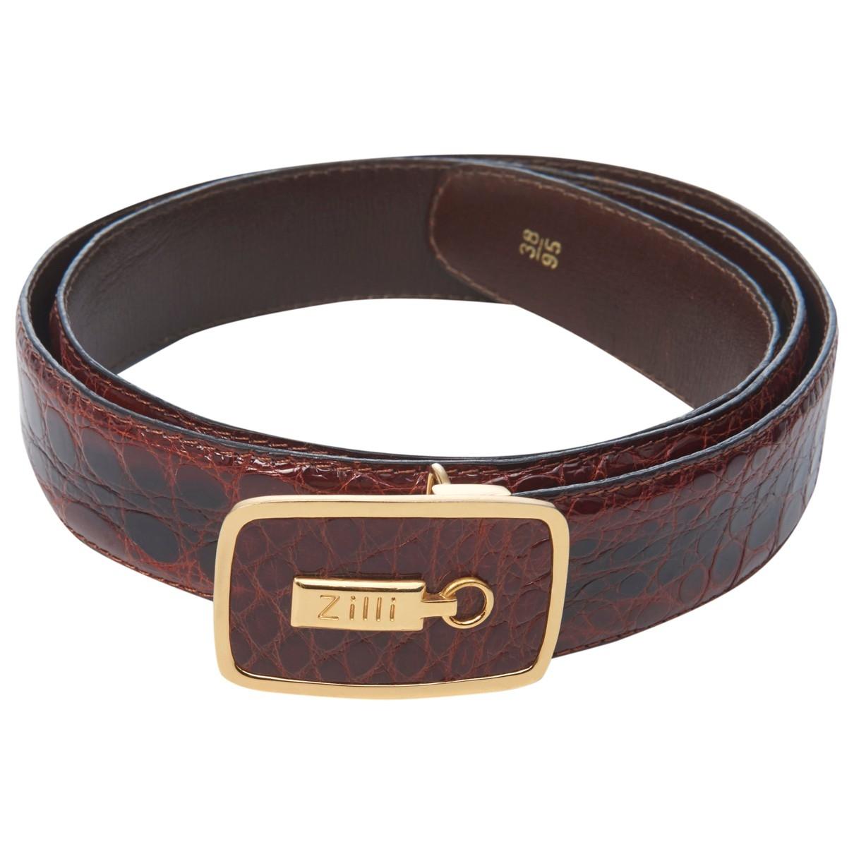 Cinturon de Cocodrilo Zilli