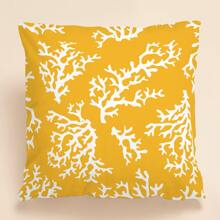 Coral Print Cushion Cover Without Filler
