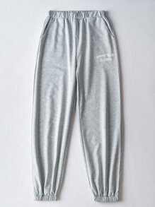 Letter Graphic Sweat Joggers