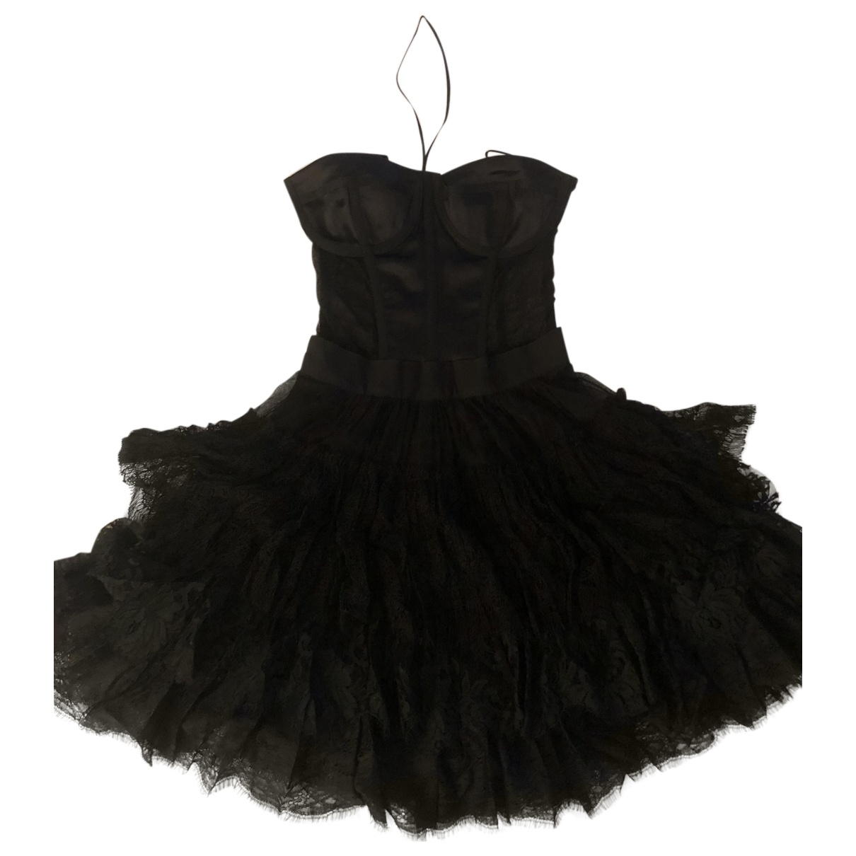Dolce & Gabbana \N Black Cotton - elasthane dress for Women 40 IT
