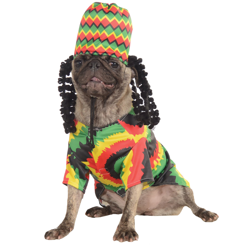 Rasta Dog Costume - Small