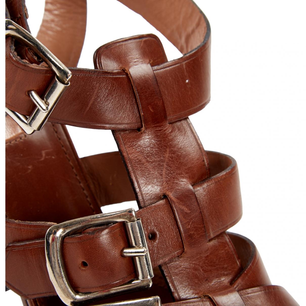 Alaïa \N Brown Leather Heels for Women 36.5 EU