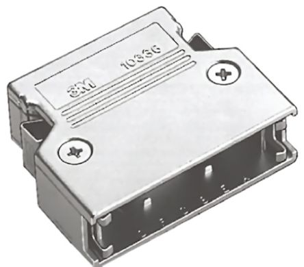3M , 103 Zinc D-sub Connector Backshell, 40 Way, Strain Relief, Natural