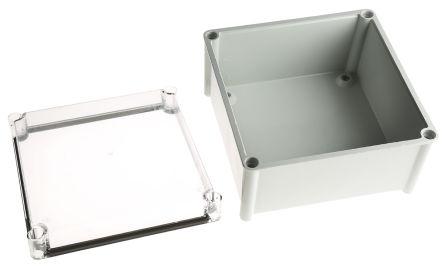 CAHORS GRP Combiester, Grey, Transparent Fibreglass Enclosure, IP66, 270 x 270 x 171mm