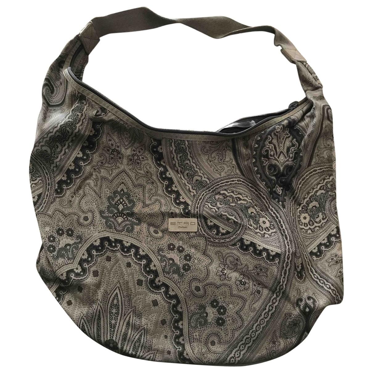 Etro \N Handtasche in  Grau Baumwolle