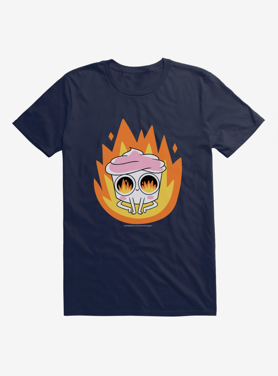 Buzzfeed's The Good Advice Cupcake Burning Up T-Shirt