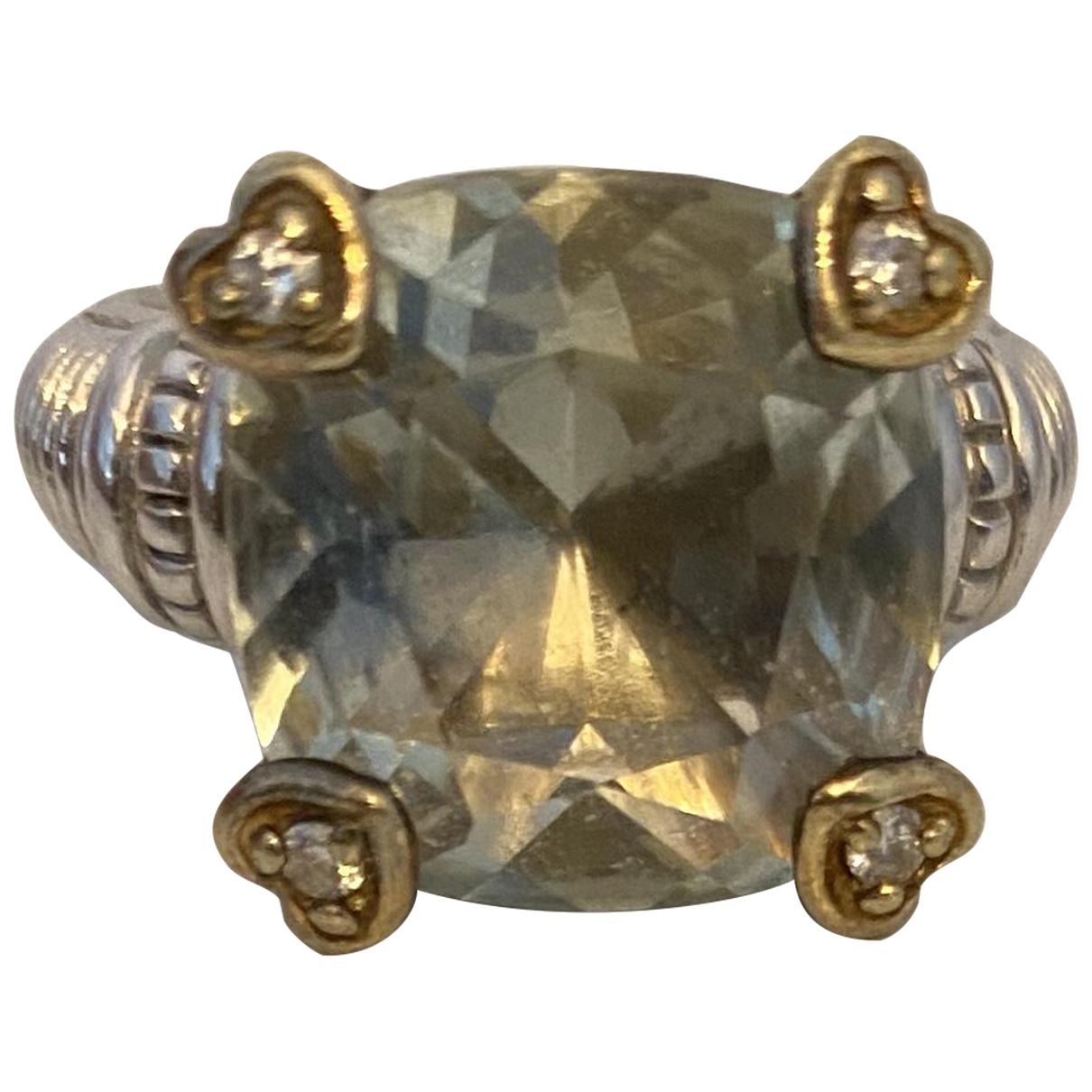 Judith Ripka \N Ring in  Gruen Silber