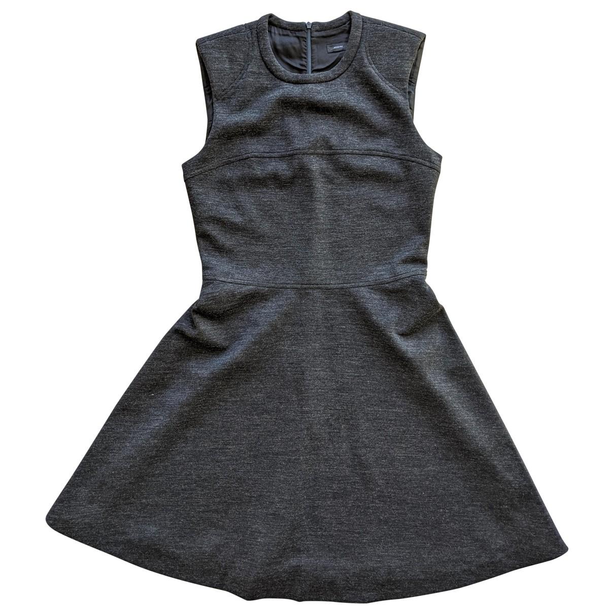 Joseph \N Anthracite Wool dress for Women 38 FR