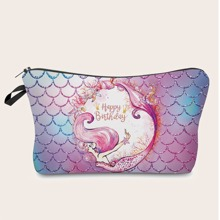 Mermaid Print Makeup Bag