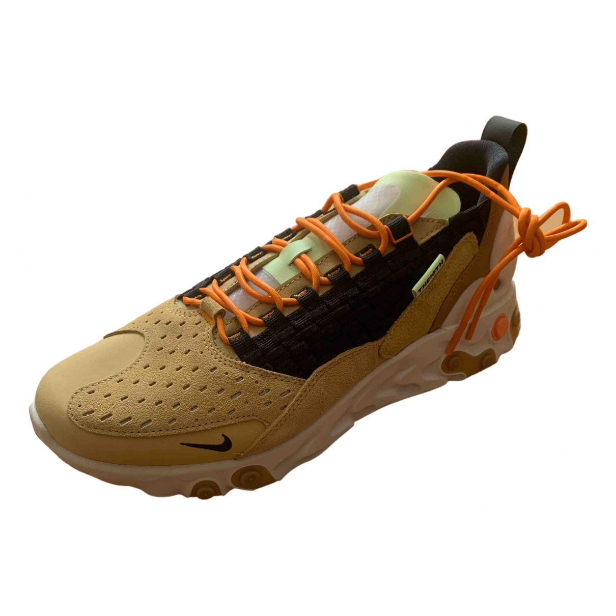 Nike React Element 87  Sneakers in  Kamel Leder