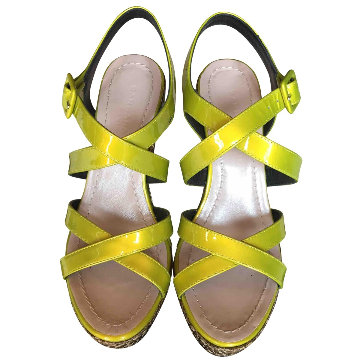 Barbara Bui \N Yellow Leather Sandals for Women 37 EU