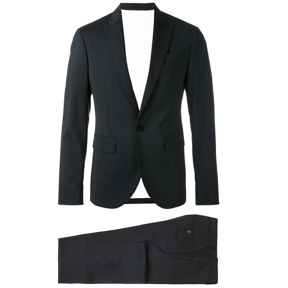 DSquared2 Beverly Hillscut Black Suit Colour: BLACK, Size: MEDIUM