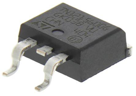 STMicroelectronics , TN1215-600G-TR, Thyristor, 600V 8A, 15mA 3-Pin, D2PAK (TO-263) (5)