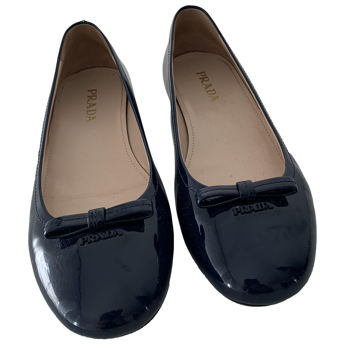 Prada N Blue Patent leather Ballet flats for Women 36.5 EU