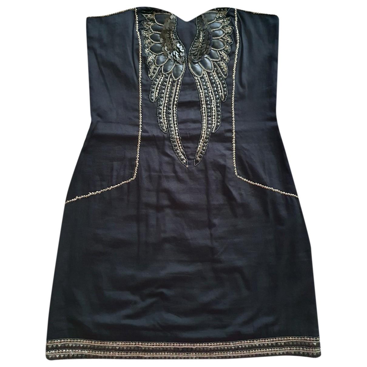 French Connection \N Kleid in  Schwarz Baumwolle