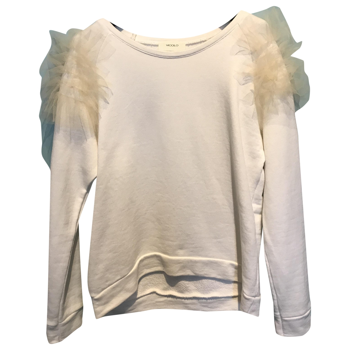 Vicolo \N Pullover in  Weiss Baumwolle