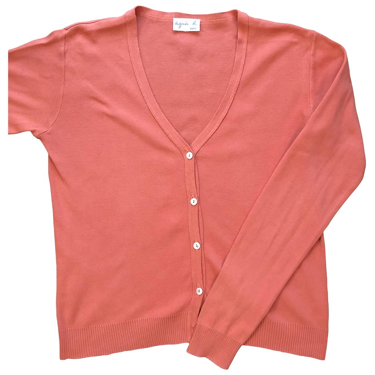 Agnes B. - Pull   pour femme en coton - rose