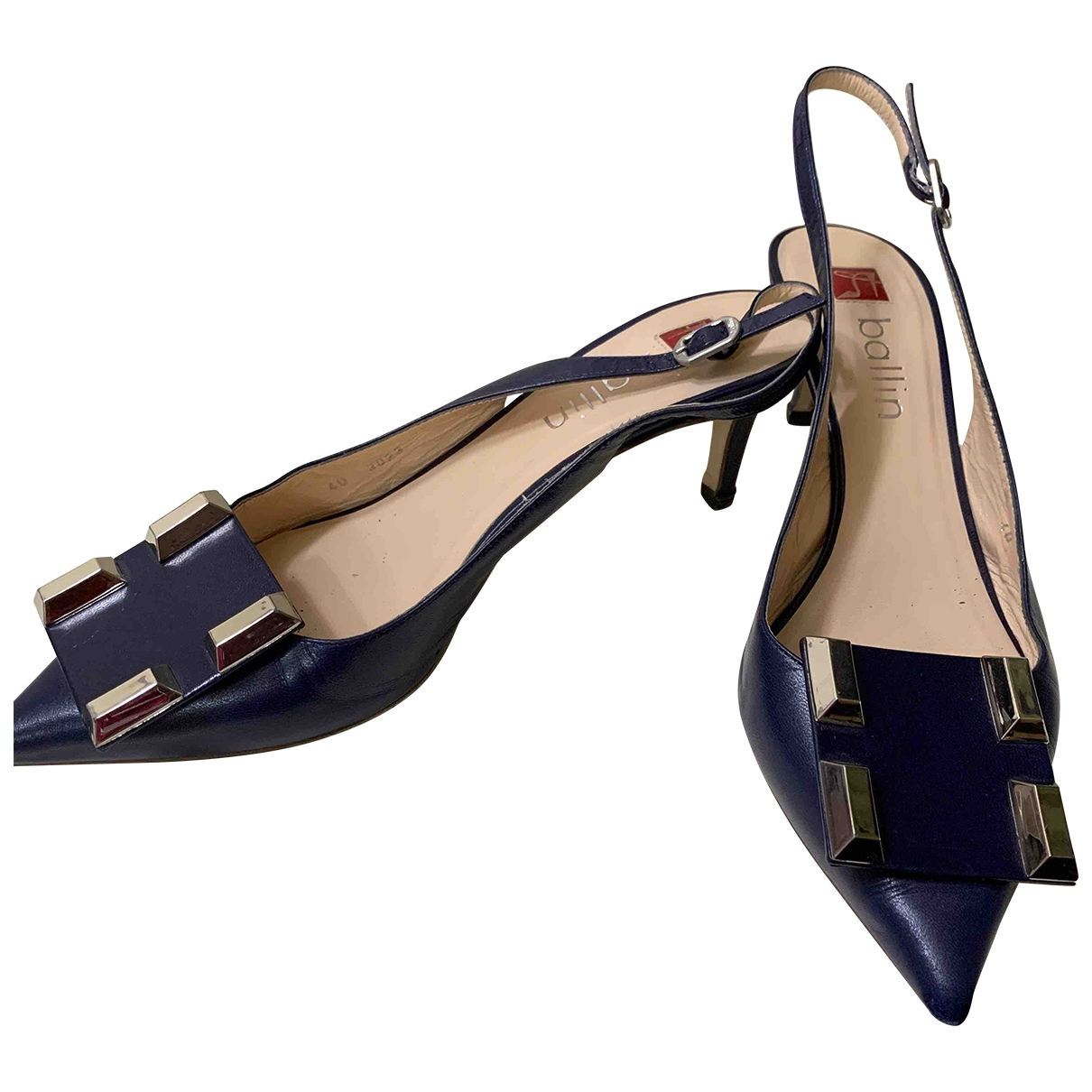 Non Signé / Unsigned \N Blue Leather Heels for Women 40 EU