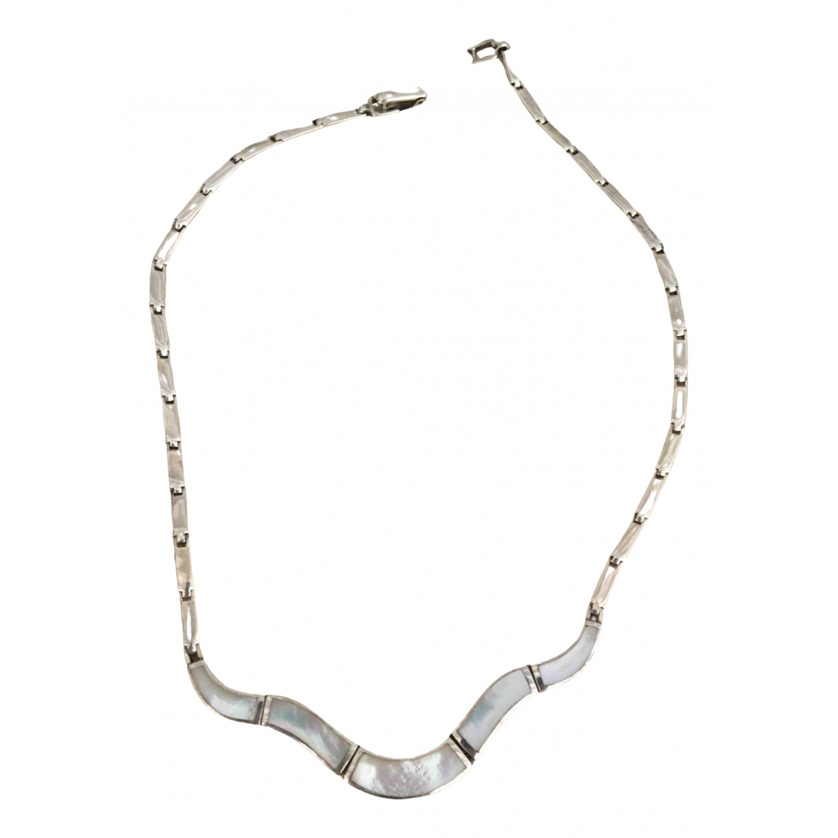Non Signé / Unsigned Nacre Silver Silver necklace for Women \N
