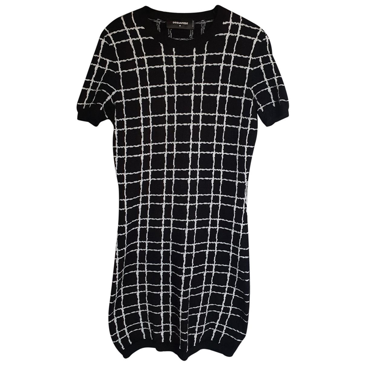 Dsquared2 \N Kleid in  Schwarz Wolle