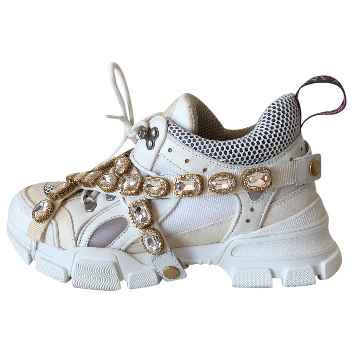 Gucci Flashtrek White Leather Trainers for Women 39 IT