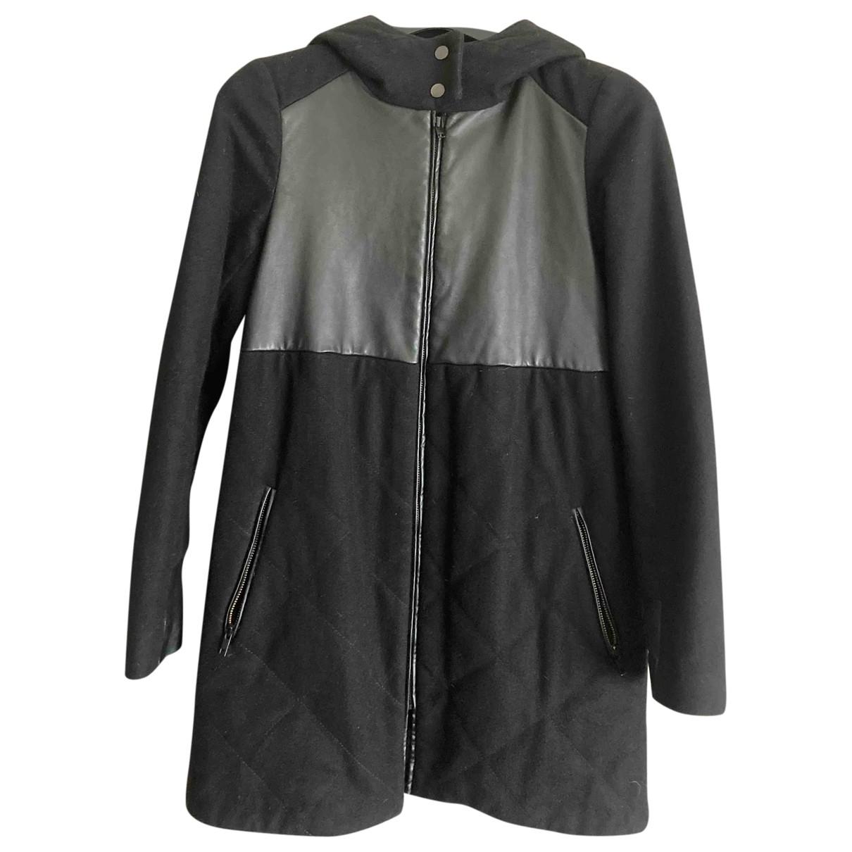 Comptoir Des Cotonniers - Manteau   pour femme en laine - noir