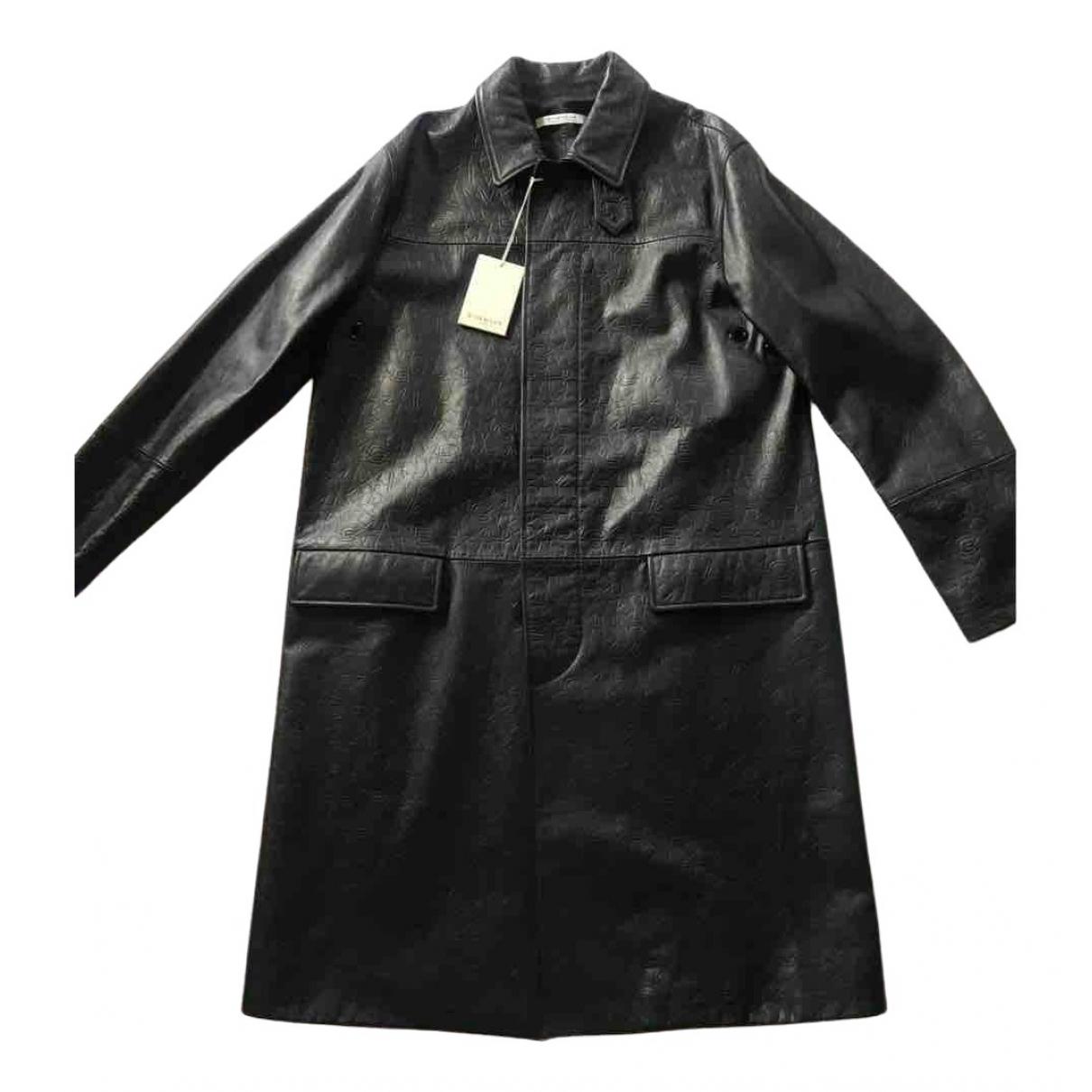 Givenchy \N Black Leather coat  for Men 50 FR
