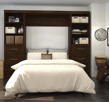 26894-69 Pur 109 Full Wall  Bed Kit Including Six Drawers with Simple Pulls and Molding Detail in