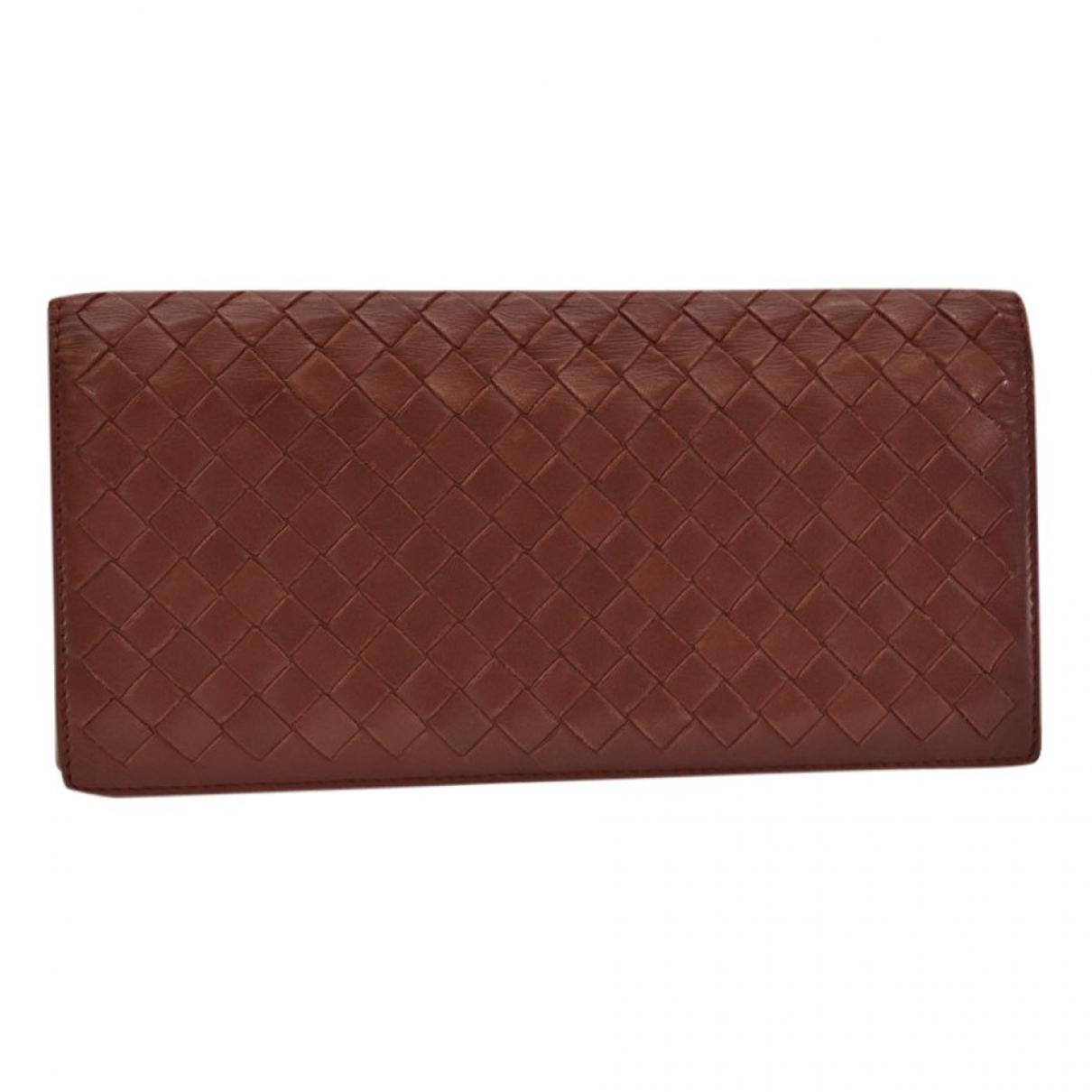 Bottega Veneta Intrecciato Red Leather wallet for Women N