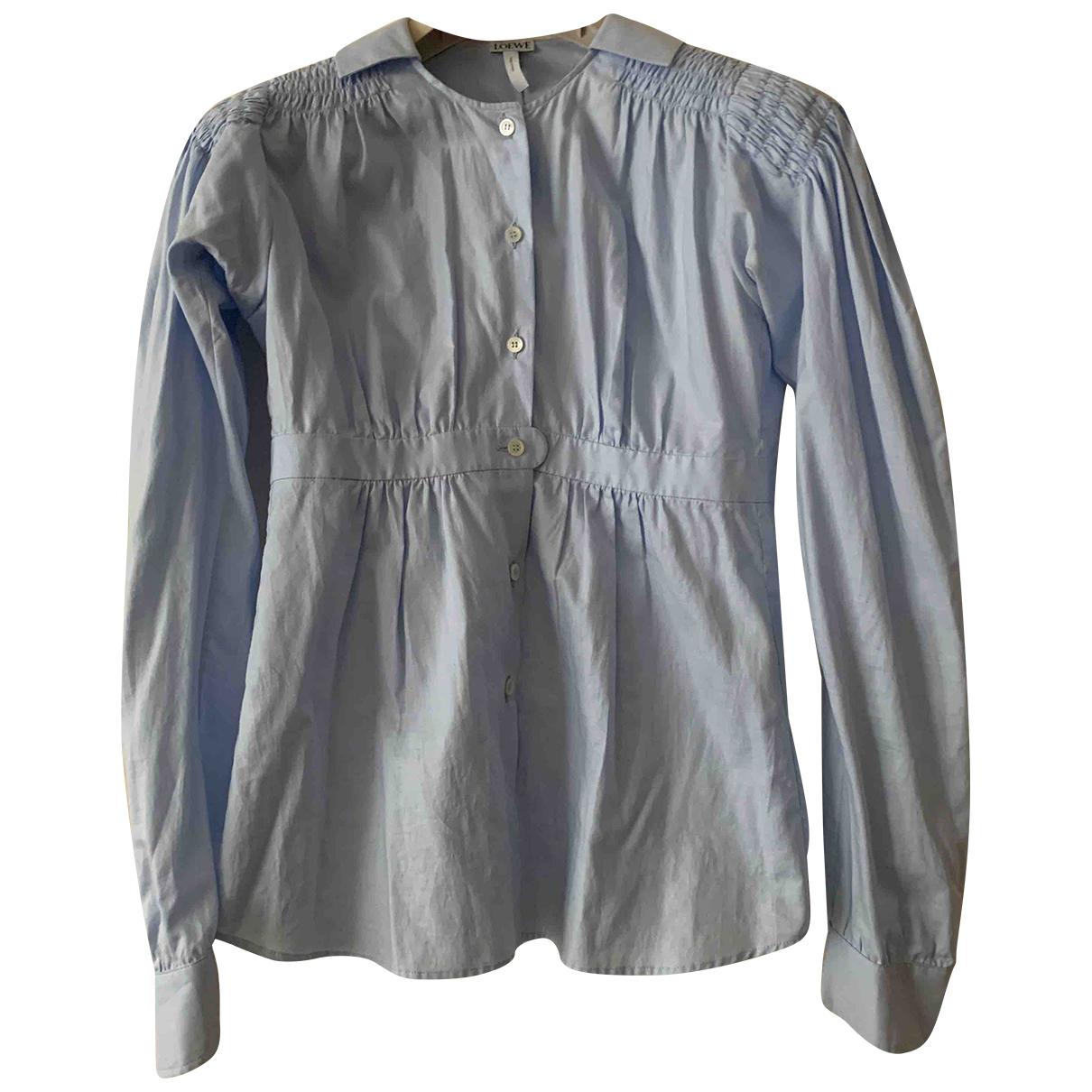 Loewe - Top   pour femme en coton - bleu