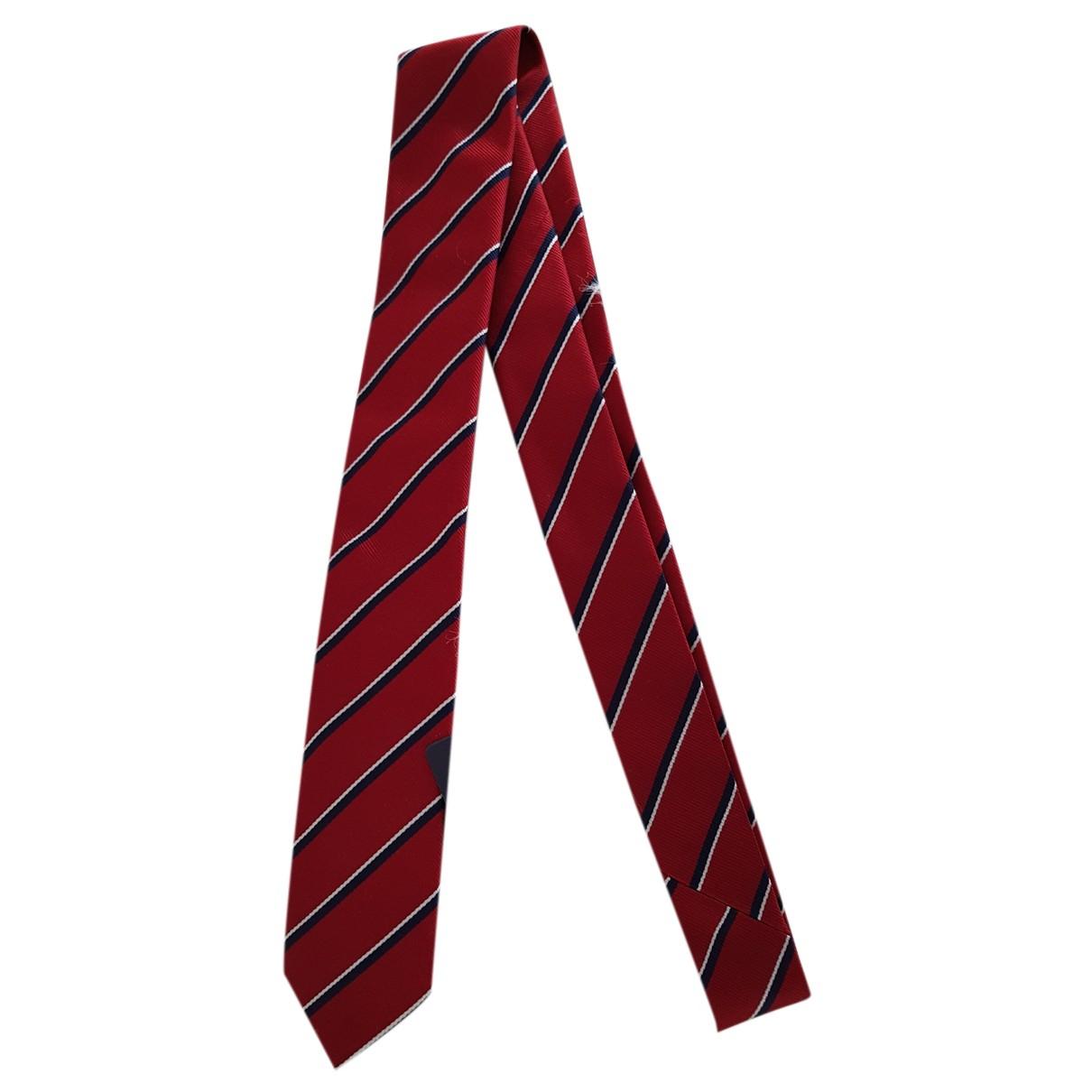 Prada N Red Silk Ties for Men N