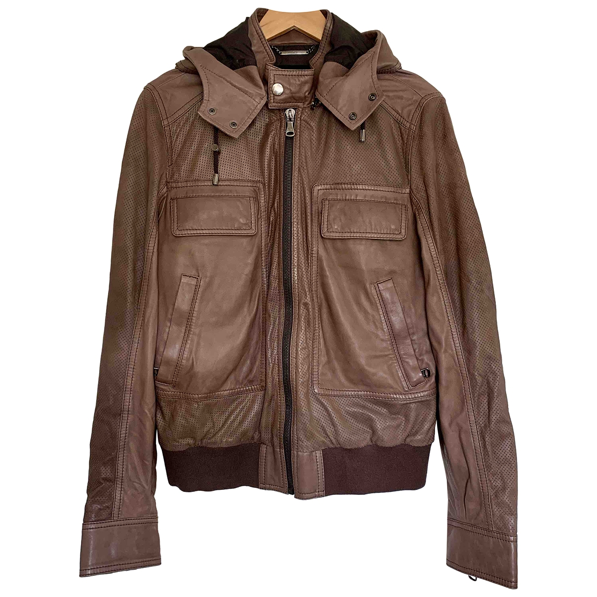 D&g \N Brown Leather jacket  for Men 50 IT