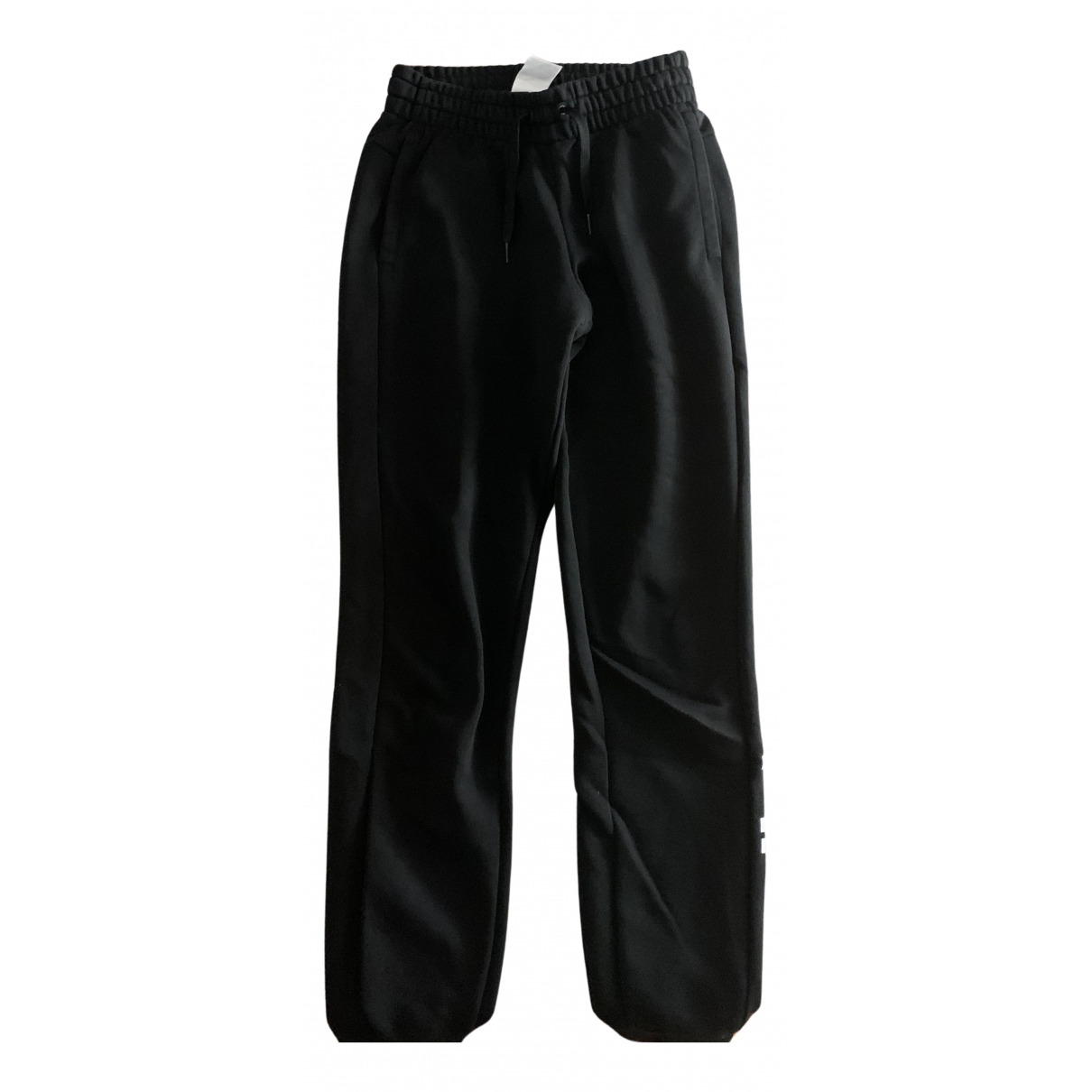 Adidas N Black Cotton Trousers for Women XS International