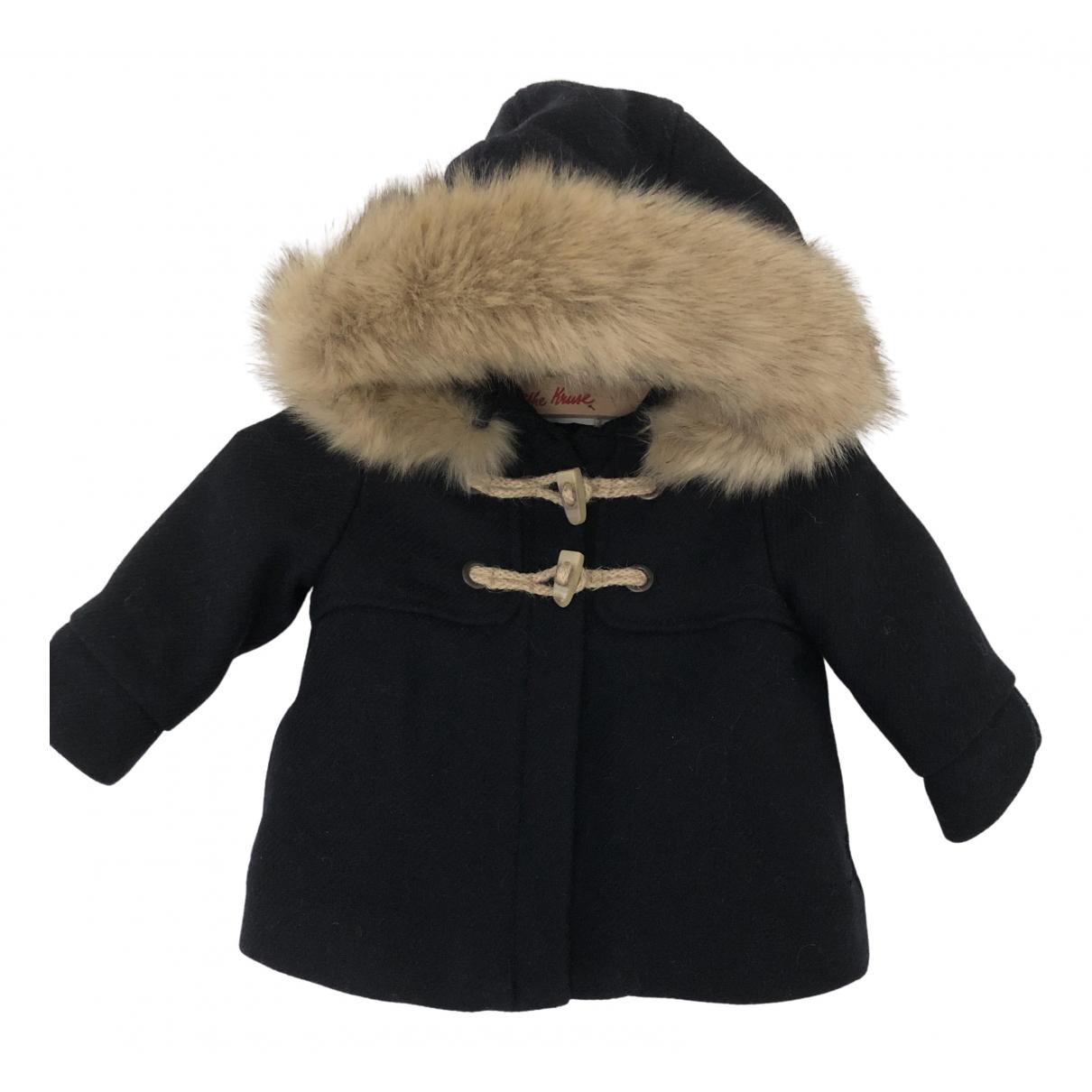 Zara - Blousons.Manteaux   pour enfant en laine - marine