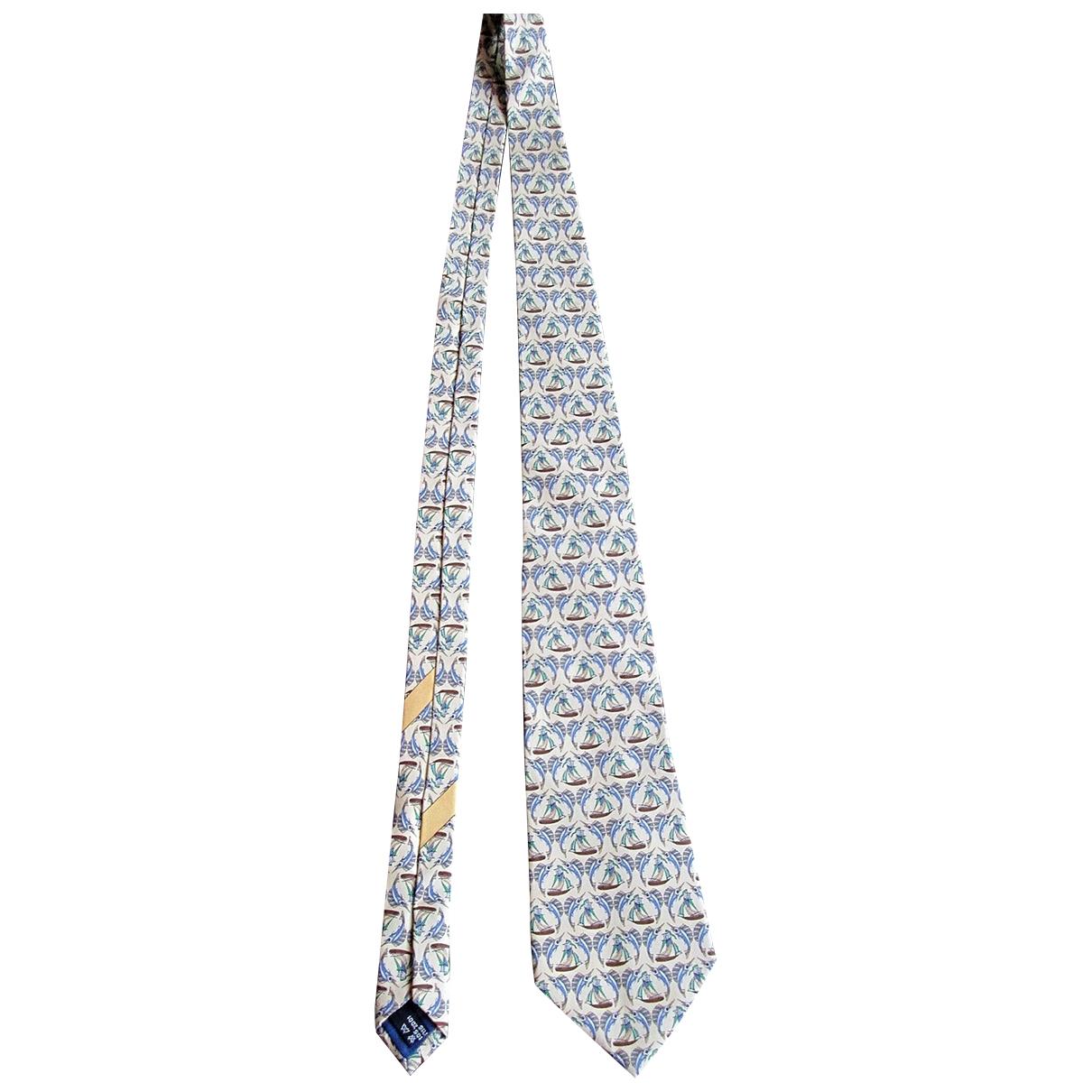 Salvatore Ferragamo - Cravates   pour homme en soie - jaune