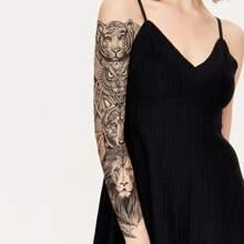 Pegatina tatuaje con patron de flor