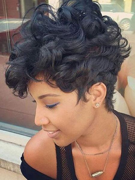 Milanoo Peluca negra del pelo humano de Afro Peluca de pelo corto en capas Peluca de cabello humano