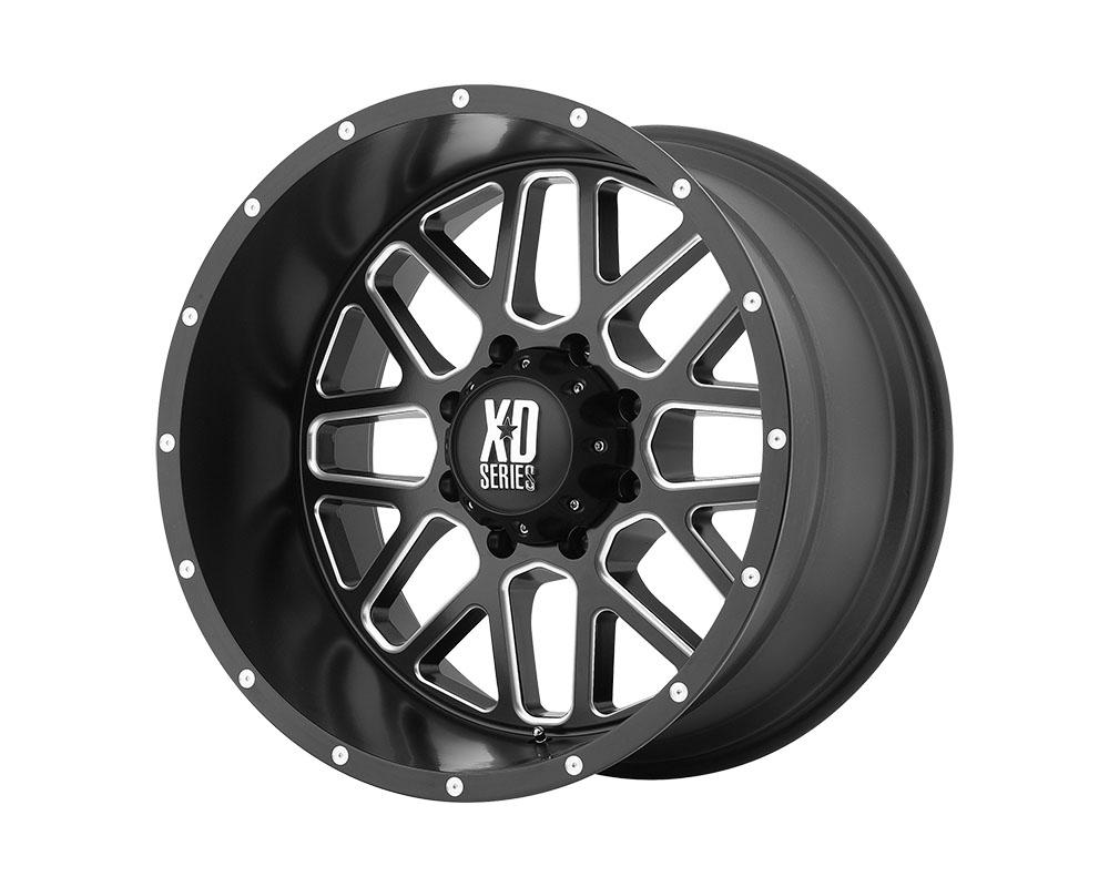 XD Series XD82021080924N XD820 Grenade Wheel 20x10 8x8x165.1 -24mm Satin Black Milled