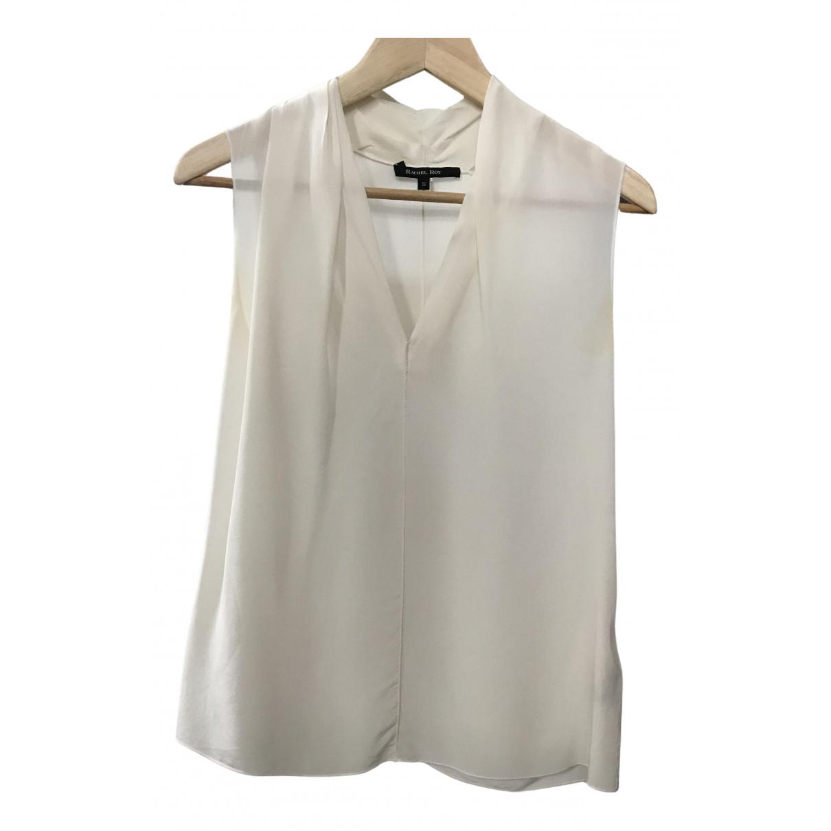 Rachel Roy - Top   pour femme en soie - blanc
